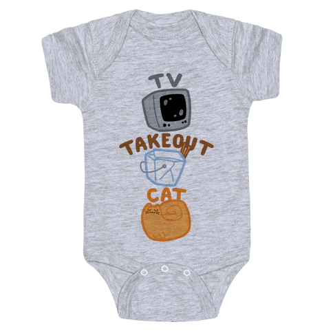 Tv Takeout Cat Baby Onesy