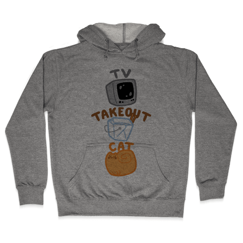 Tv Takeout Cat Hooded Sweatshirt