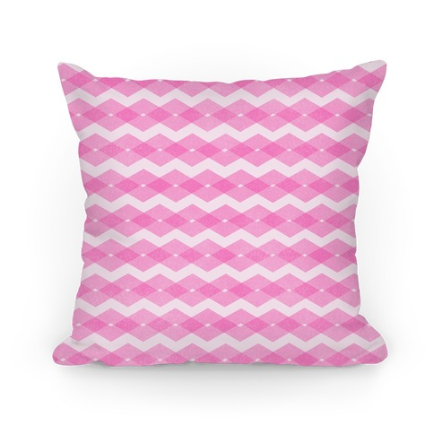 Pink Zig Zag Pattern Pillow