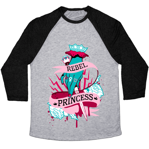 Rebel Princess Baseball Tee