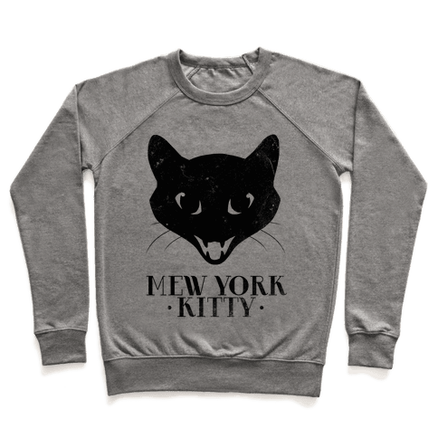 Mew York Kitty (Distressed) Pullover