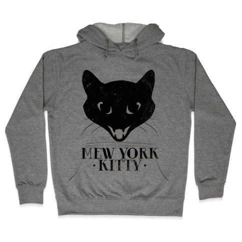 Mew York Kitty (Distressed) Hooded Sweatshirt