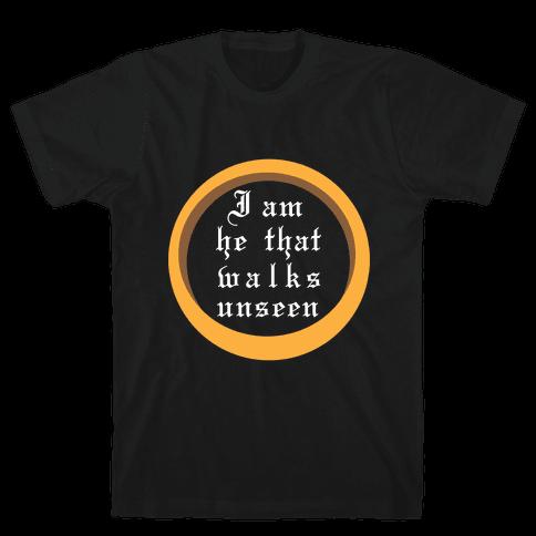 He That Walks Unseen Mens T-Shirt
