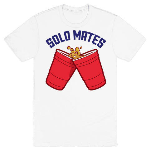 Solo Mates (Red) Mens T-Shirt
