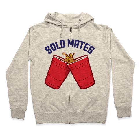 Solo Mates (Red) Zip Hoodie