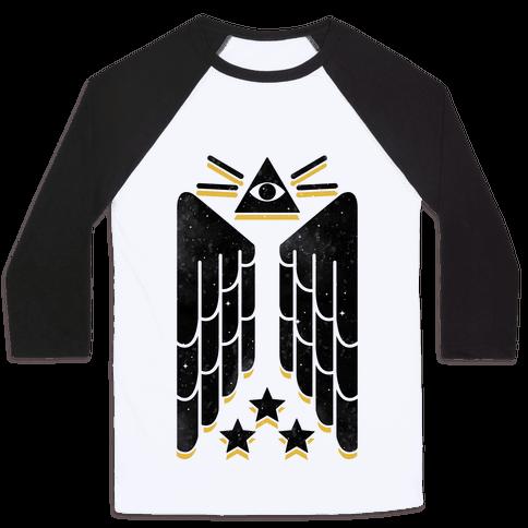 Illuminati Wings Baseball Tee