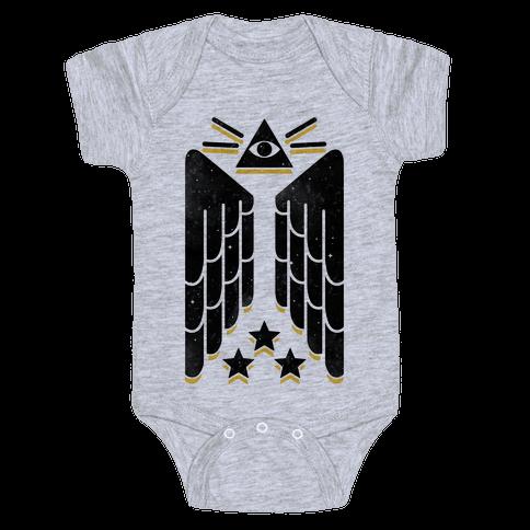 Illuminati Wings Baby Onesy