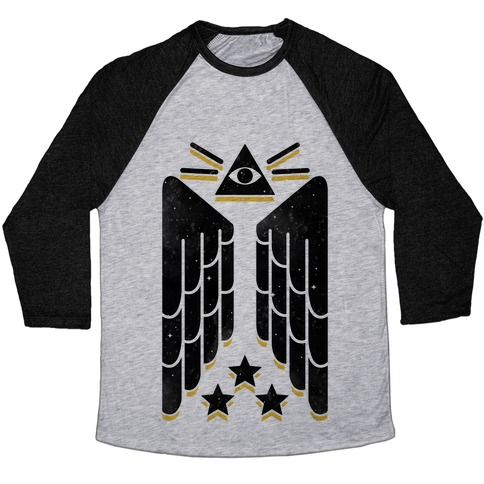 Illuminati Wings Baseball Tee