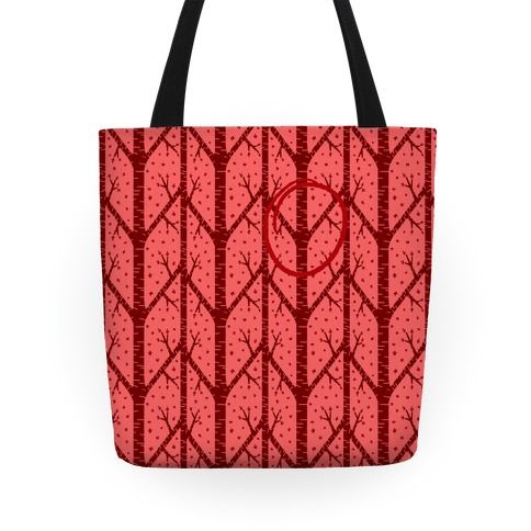 Red Tree Pattern Tote