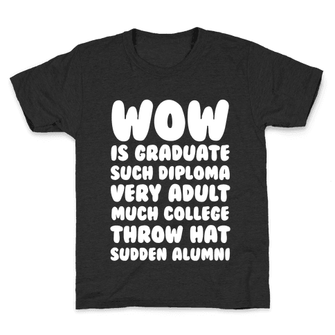 Wow Graduation Kids T-Shirt