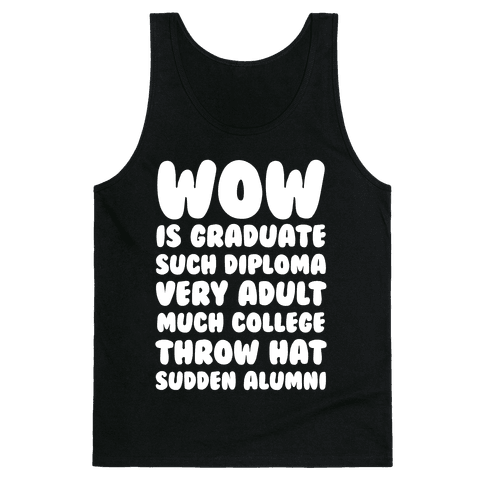 Wow Graduation Tank Top
