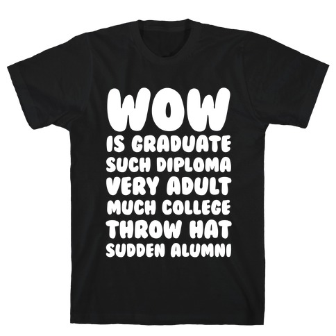 Wow Graduation Mens T-Shirt