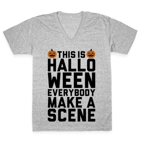 This Is Halloween V-Neck Tee Shirt
