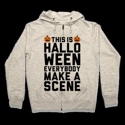 This Is Halloween Zip Hoodie