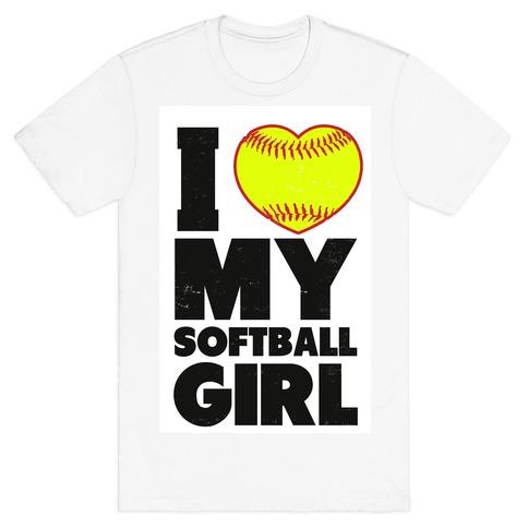 I Love My Softball Girl T-Shirt