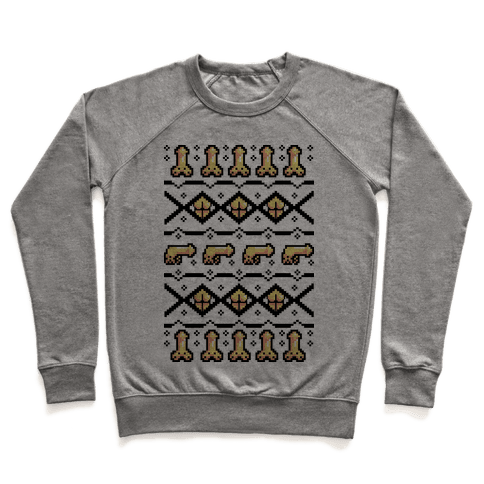 Dicks and Butts Ugly Sweater Pattern Pullover