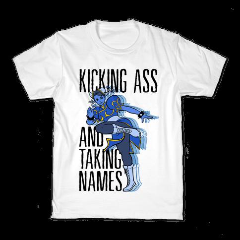 Kicking Ass and Taking Names Kids T-Shirt