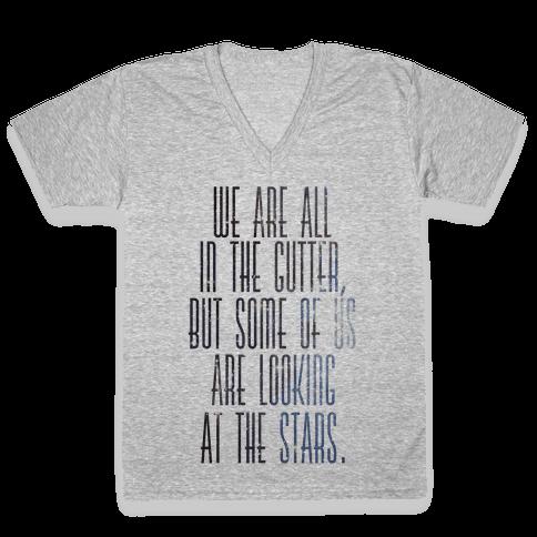 Stars V-Neck Tee Shirt