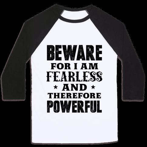 Fearless and Powerful Baseball Tee