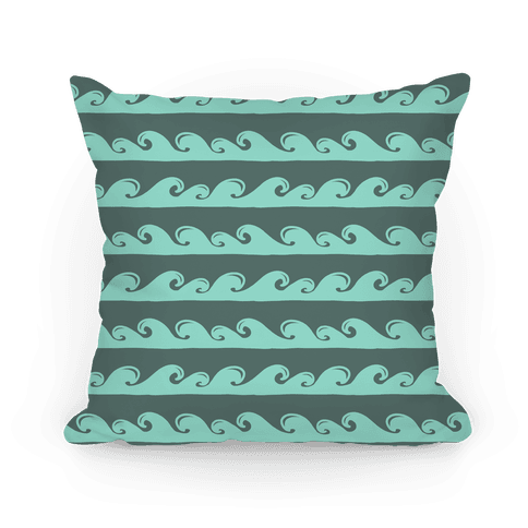Tidal Wave Pattern Pillow