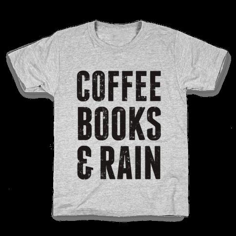 Coffee Books & Rain (Vintage) Kids T-Shirt