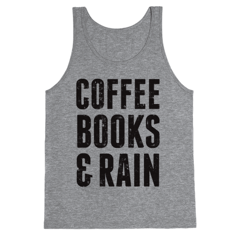 Coffee Books & Rain (Vintage) Tank Top