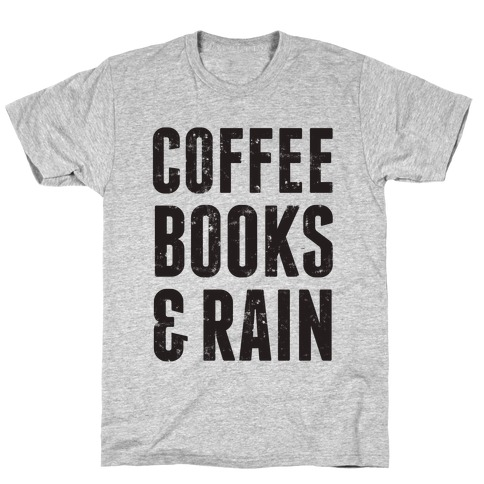 Coffee Books & Rain (Vintage) Mens T-Shirt