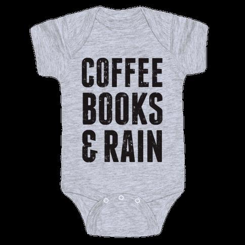 Coffee Books & Rain (Vintage) Baby Onesy