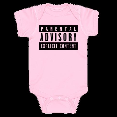 Parental Advisory Baby Onesy