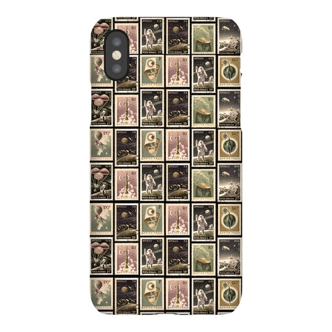 Vintage Space Stamp Pattern Phone Case