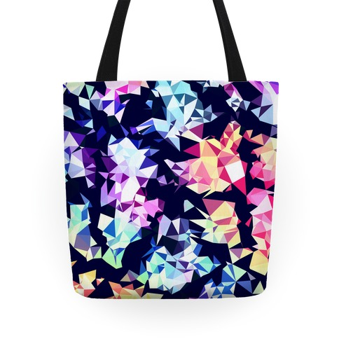 Rainbow Geometry Tote