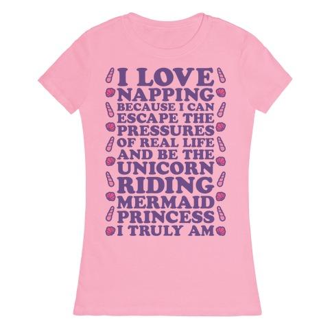 I Love Napping Womens T-Shirt