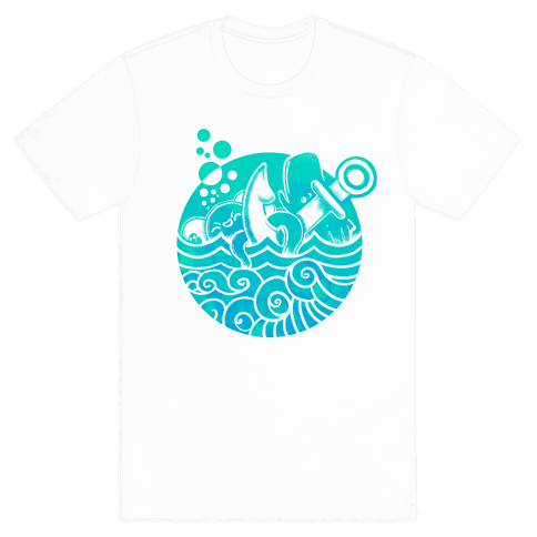 Aqua Friends Octopus & Whale Mens T-Shirt