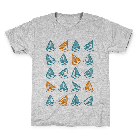 Little Sailboats Pattern Kids T-Shirt