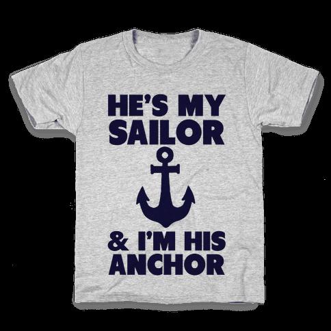 I'm His Anchor Kids T-Shirt