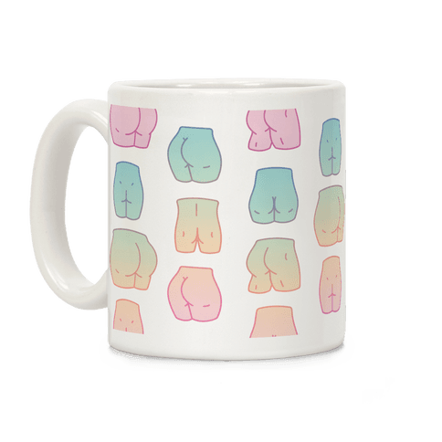 Kawaii Pastel Butt Pattern Coffee Mug
