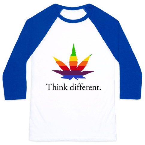 Think Different Baseball Tee