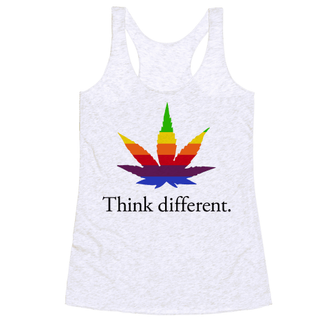 Think Different Racerback Tank Top