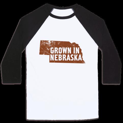 Grown in Nebraska Baseball Tee