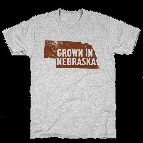 Grown in Nebraska Mens T-Shirt