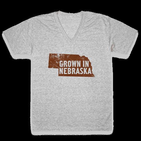 Grown in Nebraska V-Neck Tee Shirt