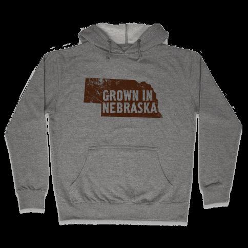 Grown in Nebraska Hooded Sweatshirt
