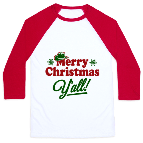 Merry Christmas Y'all! Baseball Tee