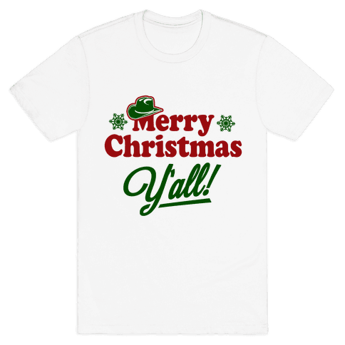Merry Christmas Y'all! Mens T-Shirt