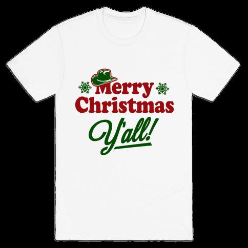 Merry Christmas Y'all! Mens T-Shirt
