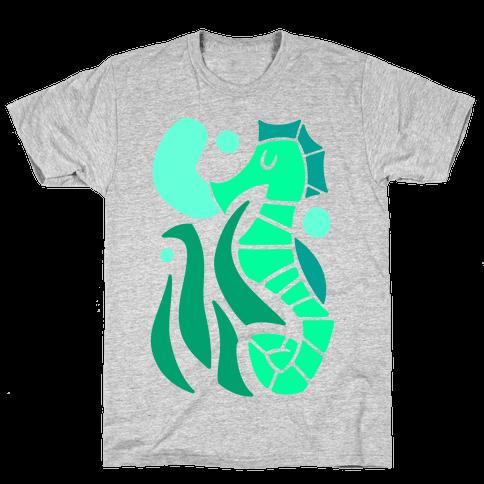 Bubbly Seahorse Mens T-Shirt