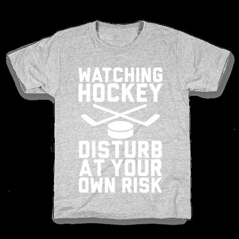 Watching Hockey Kids T-Shirt