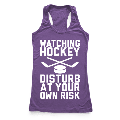 Watching Hockey Racerback Tank Top