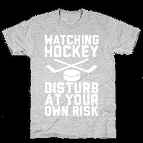 Watching Hockey Mens T-Shirt