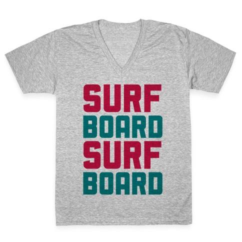 Surfboard V-Neck Tee Shirt